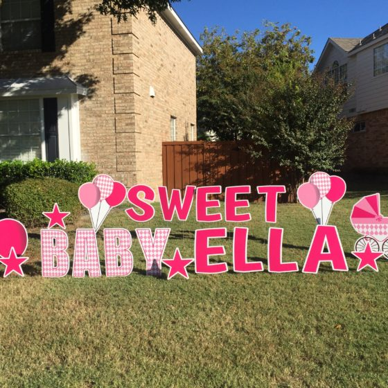 Baby Shower Yard Greeting