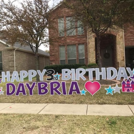 Personalized Birthday Yard Sign for Daybria