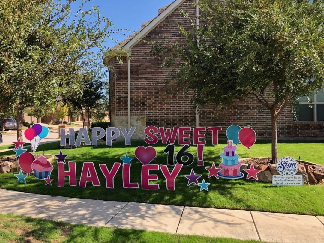 Sign dreamers sign gallery happy sweet 16 birthday yard greeting m4hsunfo