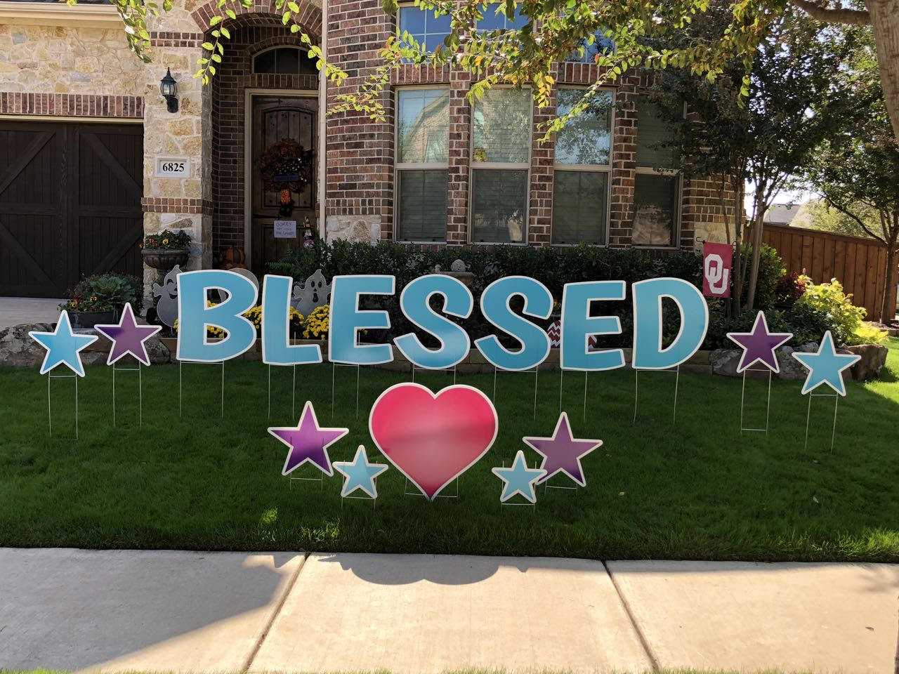 Sign Dreamers Blessed Yard Greeting