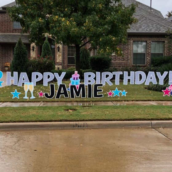 Happy Birthday Yard Greeting Jamie
