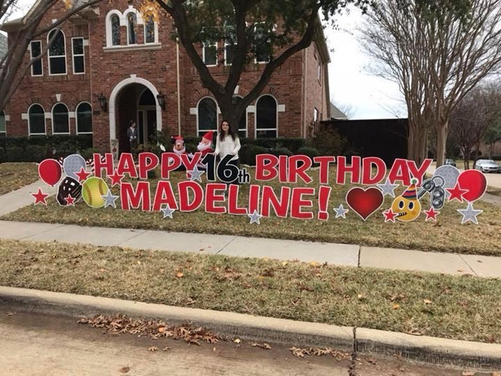 Happy 16th Birthday Yard Sign Greeting