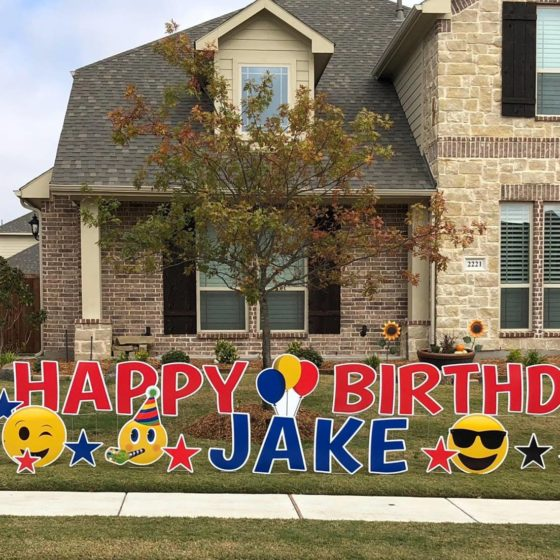 Happy Birthday Yard Greeting for Jake