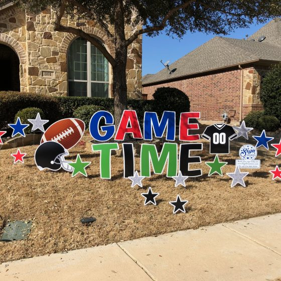 Game Time Super Bowl Part Yard Sign
